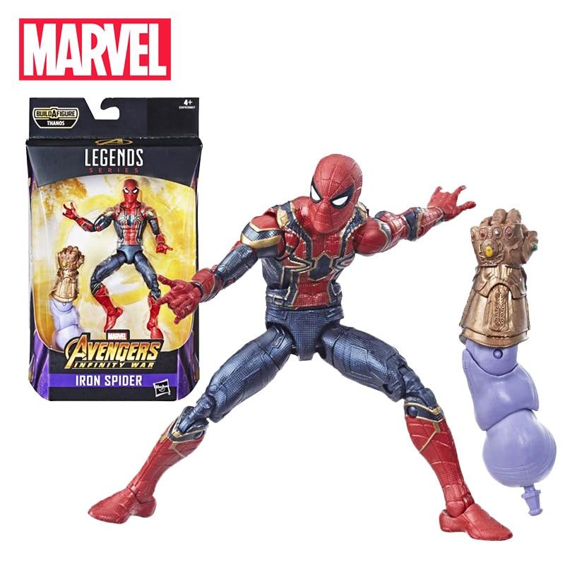 16CM Marvel légendes série fer araignée-homme figurine Marvel Avengers Endgame veuve noire sauvetage modèle à collectionner jouet