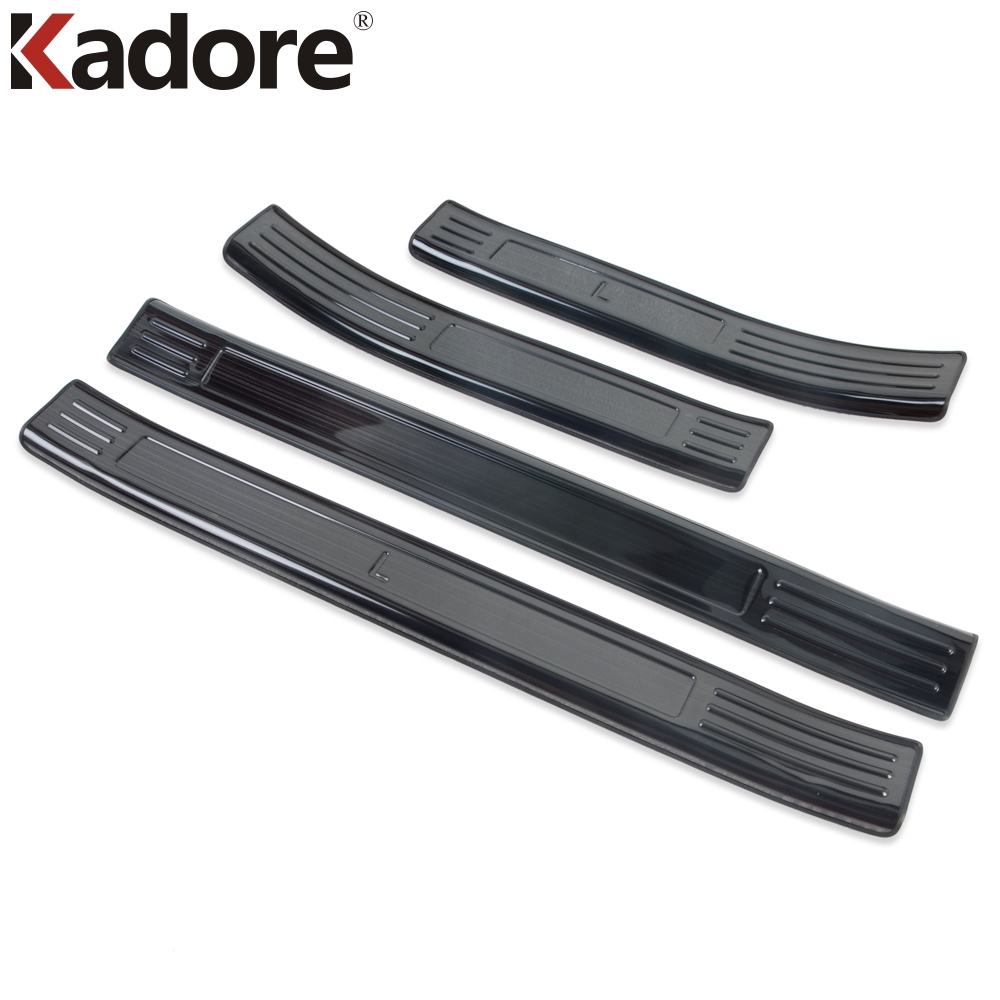 Black For Kuga 2020 Steel Outer Door Sill Scuff Plate 4pcs Car Stytle Accessories