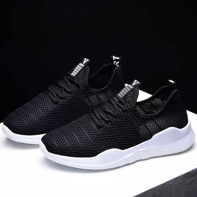 حذاء نسائي كاجوال موضة تنفس المشي شبكة حذاء مسطح امرأة بيضاء أحذية رياضية النساء رياضة Feminino رياضة أحذية رياضية A3094 3