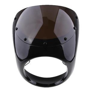 Image 2 - Motosiklet ön far Fairing cam cam plastik evrensel Cafe Racer motosiklet Retro far rüzgar ekran