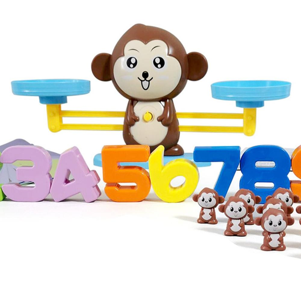 Baby Toy Set Puppy Digital Balance Toy Monkey Digital Balance Addition And Subtraction Arithmetic Desktop Game Puzzle