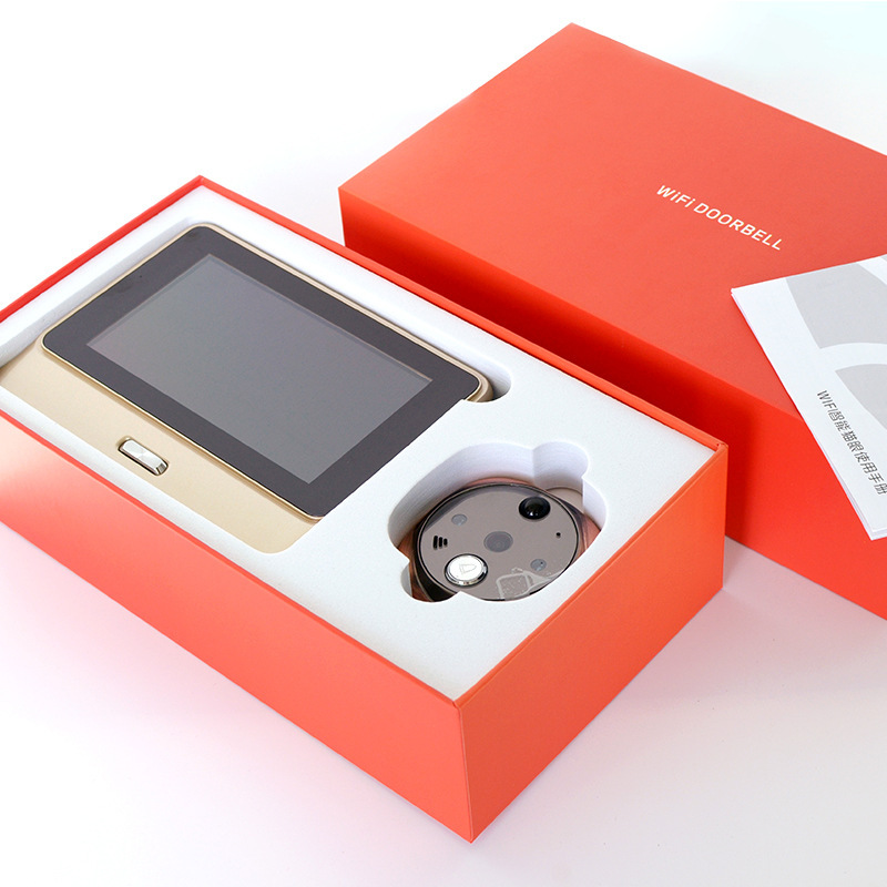 Купить с кэшбэком Smart Wifi Video Doorbell Wireless Intercom DoorBell Remote Peephole Infrared Night Security Camera HD 5 Inch Viewer Doorbell