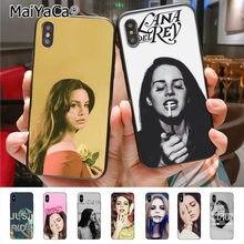 MaiYaCa-funda de teléfono de Lana Del Rey para iPhone 6 s, 7, 8 plus, X, XR, XS, 11, 12 pro, max, Samsung Galaxy S6, S7, S8, S9, S10 plus