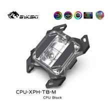 Bykski CPU Water Block Copper Armor Transperant For Ryzen7/5/3 AM4/3+/3/2+/2 FM2+/FM2/FM1 CPU Cooler RGB MOD Parts CPU-XPH-T8-M