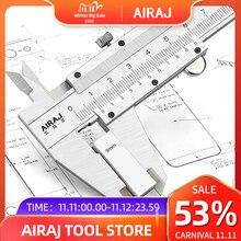 AIRAJ Vernier Caliper, עבה גוף/לייזר בקנה מידה, גבוהה דיוק גבוהה פחמן פלדת חישול מדידת כלי בניין יד כלים