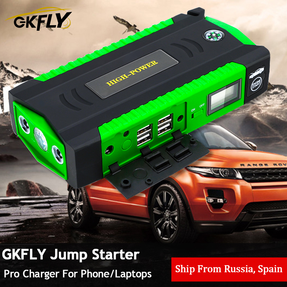 GKFLY Super Power Starting Device 12V 600A Car Jump Starter Power Bank Car Charger  Car Battery Booster For Petrol Diesel Auto