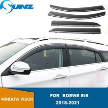 Side Window Visor For Roewe Ei5 2018 2019 2020 2021 Smoke Window Rain Guards Weathershields Sun Rain Deflectors  SUNZ