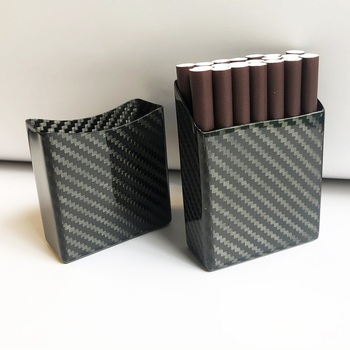 Creative New Black 3K Real Carbon Fiber Cigarette Case Ultra Light 20 Sticks Cigarettes Pocket Portable Storage Box Men Gifts