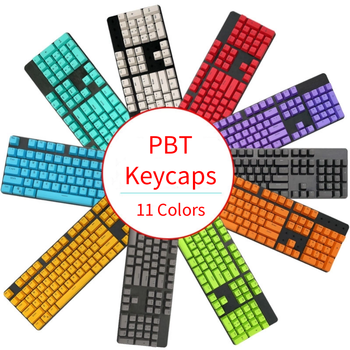 PBT Light Transmittance Keycap 87/104 Keycap Cherry MX Switch Personality Keycap For Mechanical Keyboard цена 2017