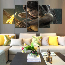 Canvas Paintings Living Room Wall Art HD Prints 5 Pieces Shadow of the Tomb Raider Pictures Modular Home Decor Poster Framework цена и фото