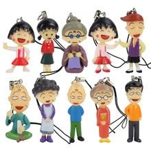Chi-bi Maruko set family chating figure PVC doll dolls toy anime figures gift