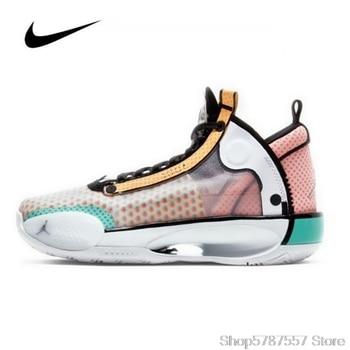 Nike Air Jordan 34 Guo Ailun (GS) CZ7743-100 Women's Jordan Shoes Original Basketball Shoes High-top Jordan Shoes Sneakers