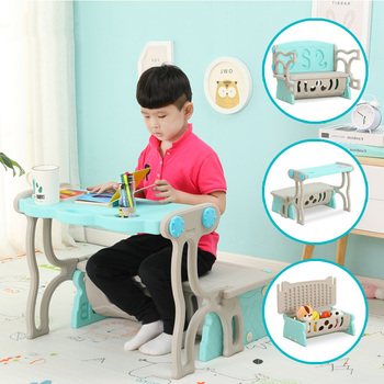 Children Chair s multi-function study table folding deformation sofa chair baby eating table infant game storage table and chair цена 2017