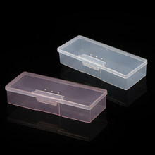 Nail Plastic Storage Box Clear Holder Container Pink Case Manicure Tools Translucent for Scissor Brush Files Sponge Collect Box(China)