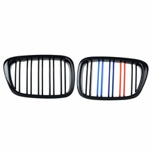 2pcs Frente Centro Grilles Renais para BMW E39 Gloss Cor Misturada Preto Grade 518 520 523 525 528 530 1999 2000 2001 2002 2003