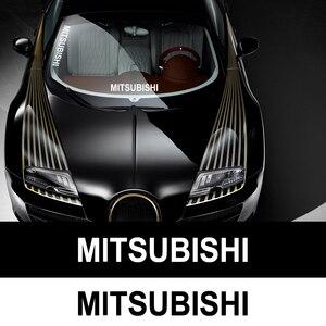 Image 1 - 1PC Auto Aufkleber Reflektierende Aufkleber Vinyl Aufkleber Auto Styling Für Mitsubishi asx outlander xl 3 lancer pajero 4 l200 lancer EX