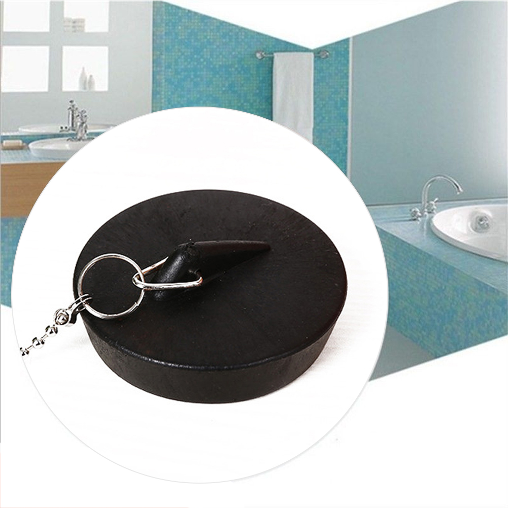 With Chain Cute Lightweight Sink Plug Bathtub Stopper Durable Seal Easy Use Kitchen Soft Rubber Anti-leakage Bathroom Basin Tool