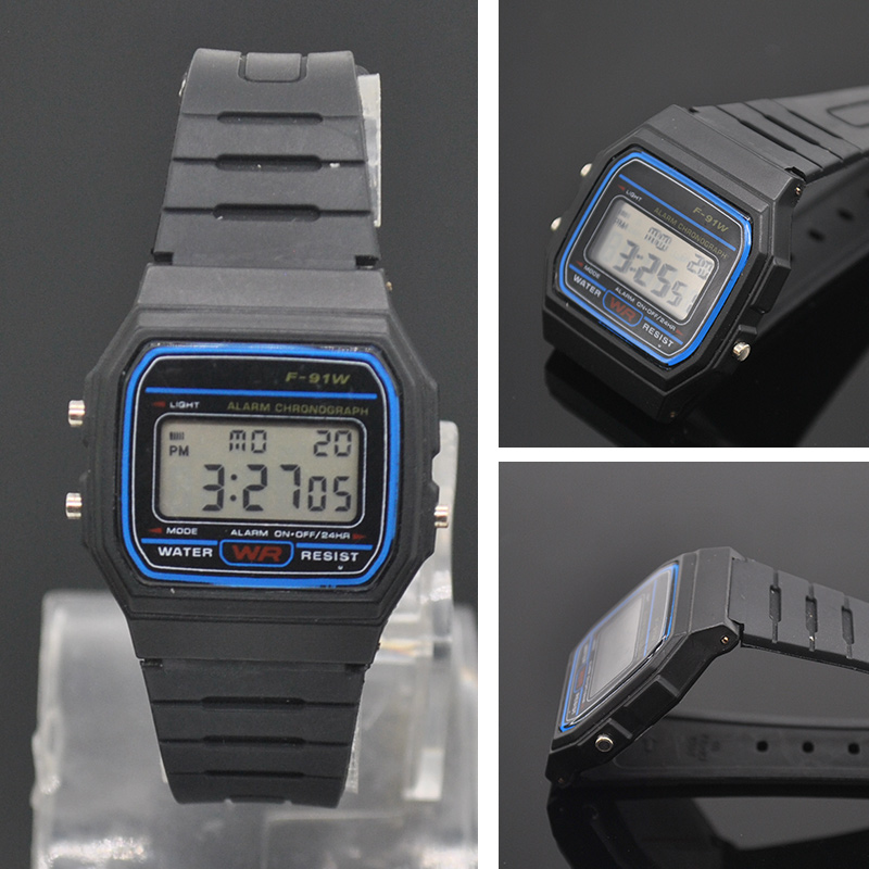 Multifunctional Digital Wristwatches Men Square Silicone LED Watch Casual Sport Watch Relojes Hombre