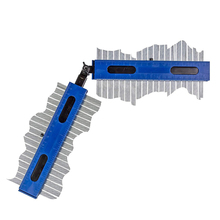 2Pcs 200*50mm Metal Contour Gauge Precisely Fast Copy Irregular Shapes Profile with Angle Connector