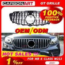 W213 GT grille For mb W213 front bumper GT Grill Fit E CLASS W213 C238 E200 E250 E300 E320 E350 2016 2018 front grille