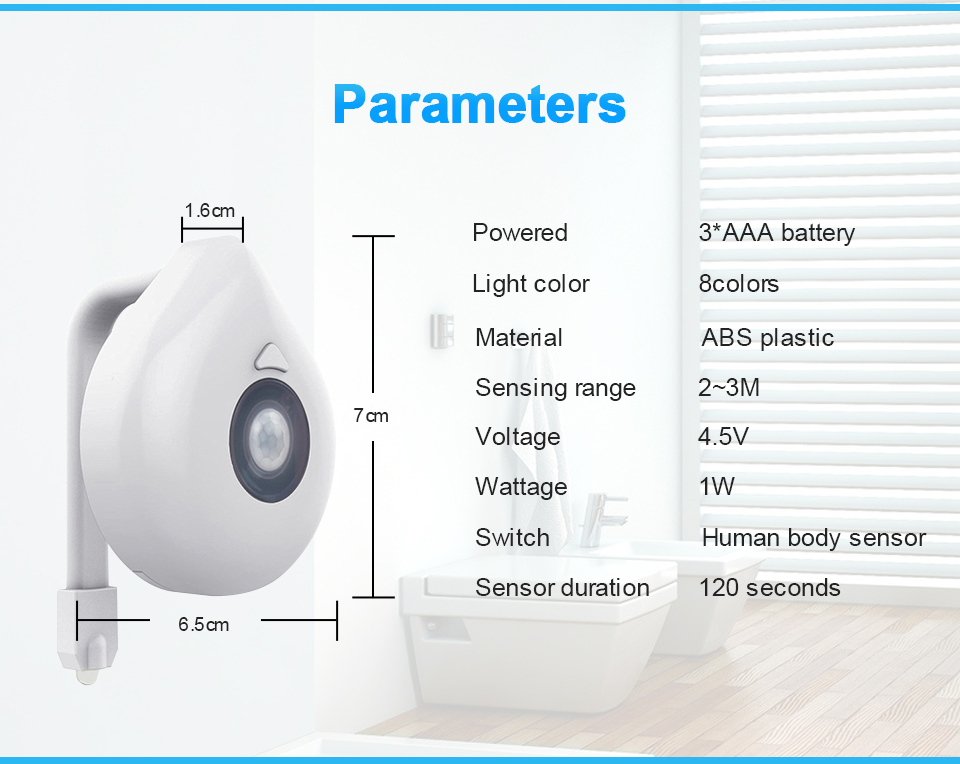 Luz do sensor de movimento wc luz