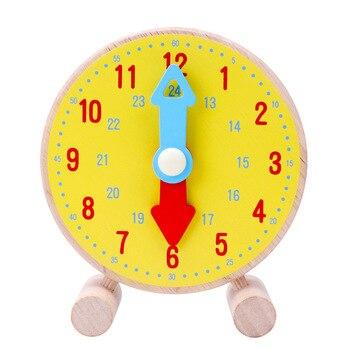 Reloj de jardín de infantes modelo de escuela primaria Primer Grado hora de aprendizaje niños reloj de tiempo capacitivo ayuda de enseñanza chico juguetes educativos