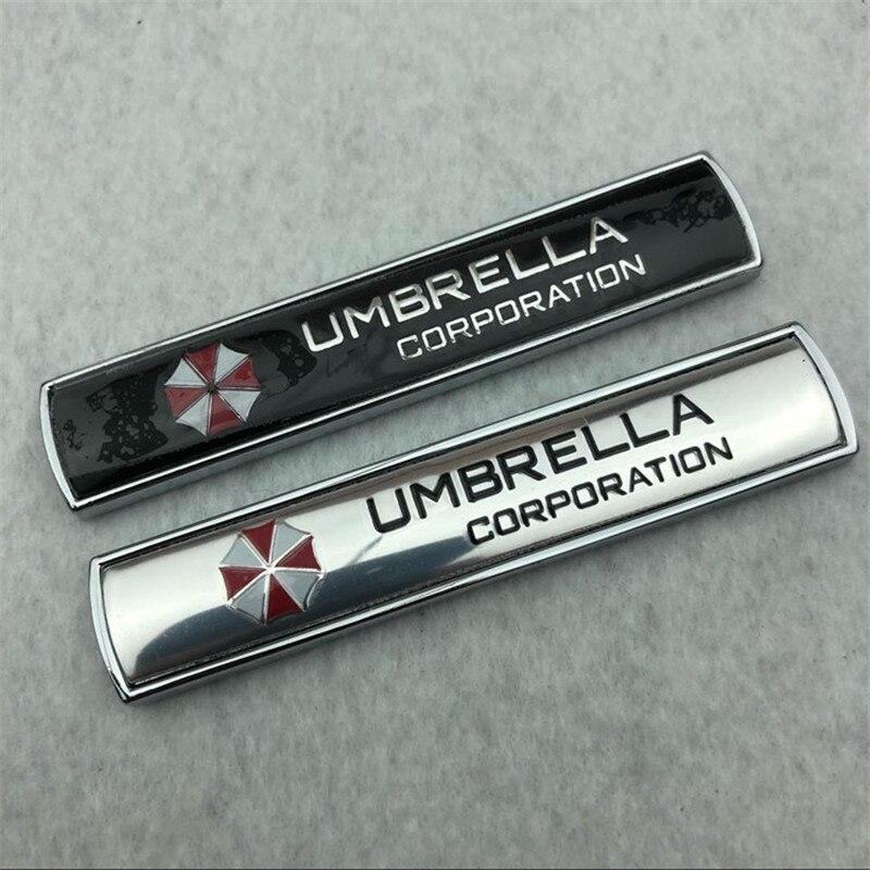 Car Styling 3D Aluminum Alloy Umbrella Corporation Car Stickers  Decals Emblem Decorations Badge Auto Accessories