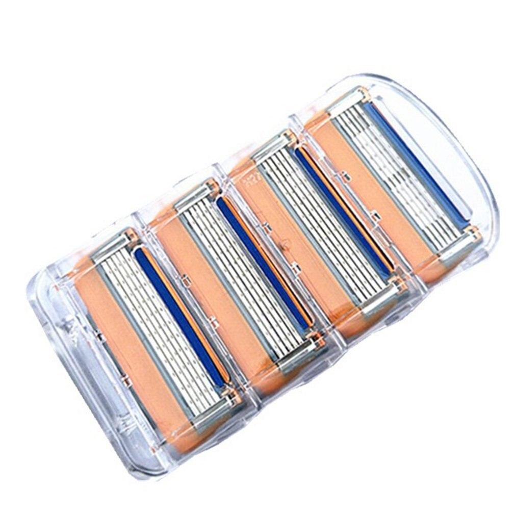 4PCS/SET Men Face Shaving Razors Blades Male Manual Razor Blades For Standard Beard Shaver Trimmer Blades Hair Removal