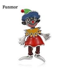 Funmor забавная брошь клоуна в стиле ретро заколки из сплава