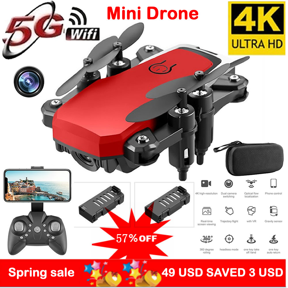 Mini rc drone uav 4 k hd com câmera oringal caixa 606 helicóptero de controle remoto um-chave retorno wifi dobrável quadcopter brinquedo assot