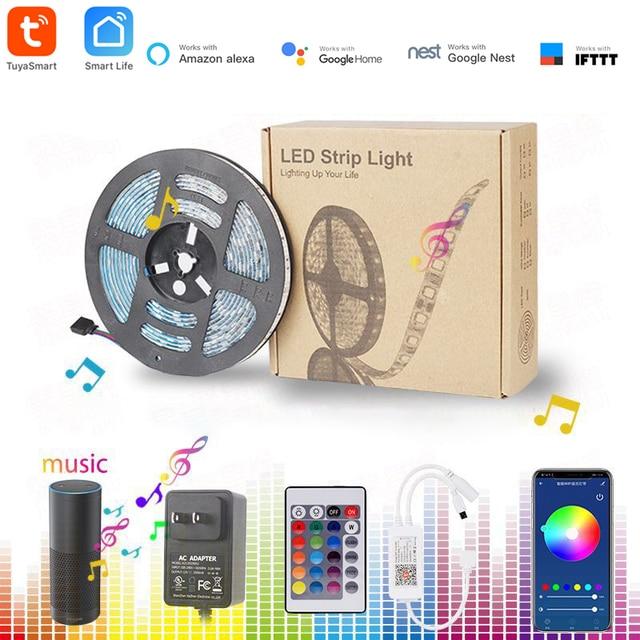 Tuya Nhà Thông Minh Tự Động Hóa Nhà Thông Minh LED Dây Mờ Chống Nước Linh Hoạt RGB Dải Đèn Hoạt Động Với Alexa Google Home