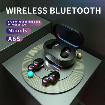 Słuchawki bezprzewodowe słuchawki dla Xiaomi Redmi Air 5 0 punktów TWS bezprzewodowe słuchawki bluetooth z mikrofonem HD dźwięk dla honoru redmi tanie i dobre opinie KUGE Inne Bezprzewodowy + Przewodowe Zaczep na ucho 32ΩΩ