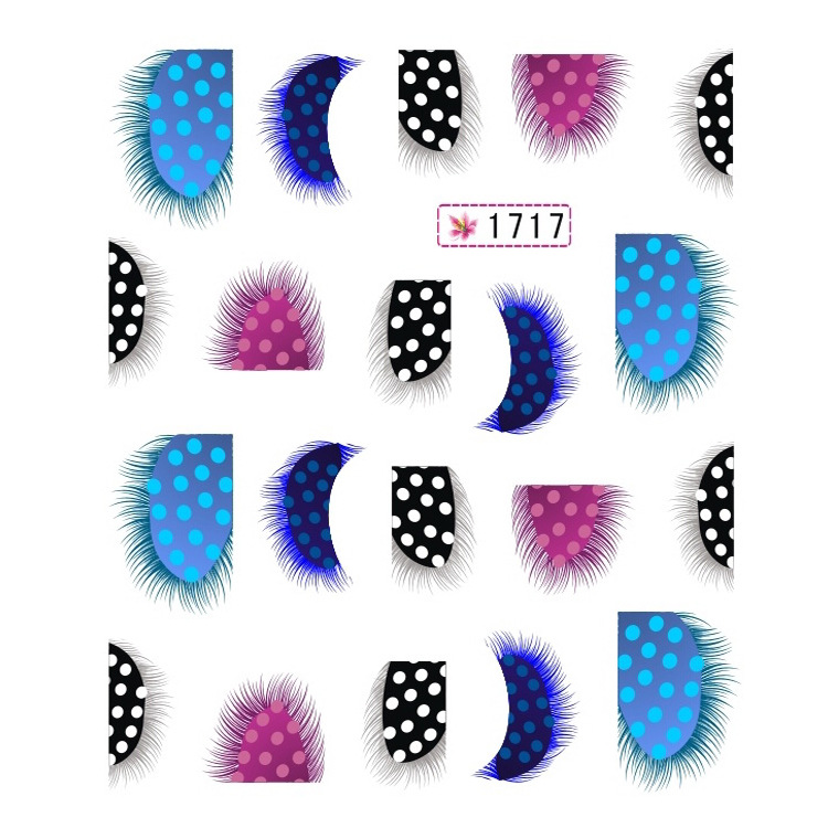 Hot Selling Water Transfer Feather Nail Sticker Manicure Flower Stickers Watermark Stickers 12-