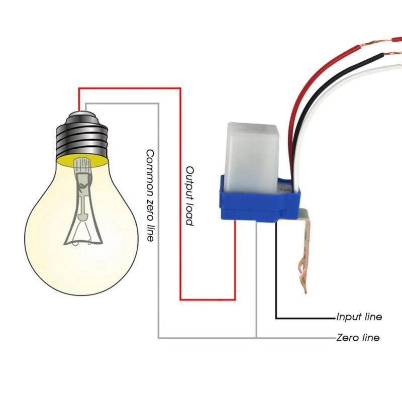 10A фотореле Сенсор автоматический переключатель вкл/Выкл фотоэлемент уличный светильник Управление Универсальный 220V автоматический Сенсо...