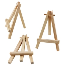 30 Pack 5-Inch Mini Wooden Easels For Displaying Wooden Display Stands, Business Cards, Photos, DIY Crafts, Decorations