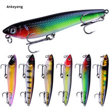 "Ankeyeng 6PC VIB Pencil Fishing Lures Fishing Tackle 9.1cm-3.58""/10g-0.35oz 6 color available With 4# Hooks VIB Baits(China)"