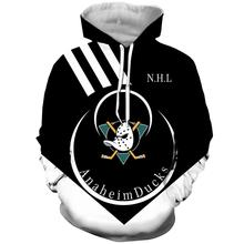 Anaheim Duck NHL Ice Hockey Sweatshirt Hoodie Men's Hoodie Original Design Harajuku Wind Sweater Hoodie Sweatshirt ombre topstitched pocket design hoodie