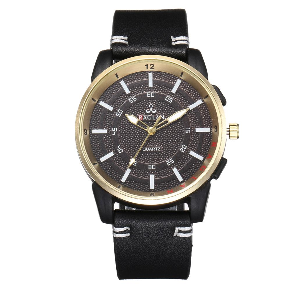 Fashion Men's Watch Leather Military Alloy Pointer Quartz Watch Business Multi Style Watch Gift часы мужские Relogio