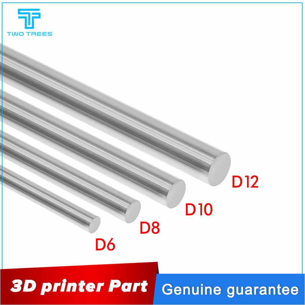 2 Pcs 3D Printer Bagian Halus Poros Engkol Sumbu Optik Beberapa Pilihan Panjang 100 200 300 400 500 600 CNC chrome Diameter 8/10/12 Mm