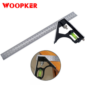 300mm combination metal square ruler 45/90 degree horizontal angle rulers stainless steel woodworking tools ruller