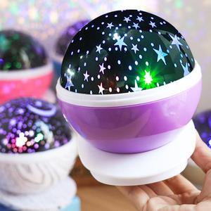 Image 1 - LED Star Projector Moon Night Light Sky Rotating Lamp Projection LED Lights for Kids Bedroom Decoration Children Gift
