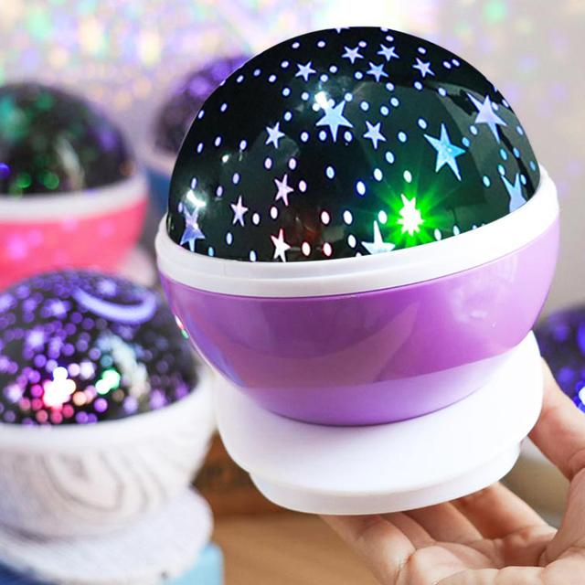 LED Star Projector Moon Night Light Sky Rotating Lamp Projection LED Lights for Kids Bedroom Decoration Children Gift