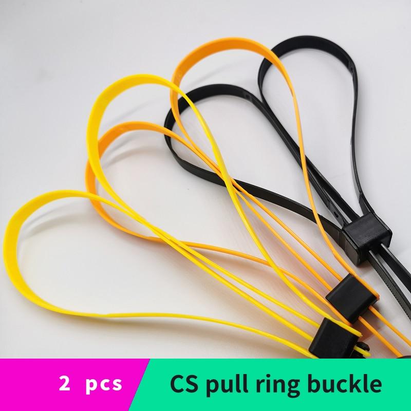 Plastic Cable Tie Handcuffs CS Sports Decorative Belt TMC Sports Equipment Disposable Cable Tie Orange Yellow Black 2 Pieces