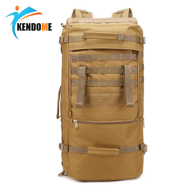 Outdoor 60L Military Tactical Bag Hunting Camping Laptop Molle Backpack Oxford Nylon Waterproof Military Backpack Sports Bag