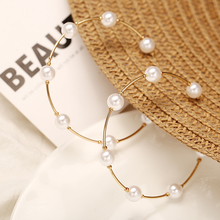 bls-miracle Boho Adjustable Multiple Layer Bracelets Bangles For Women Artificial Pearl Gold Metal Fashion Bracelet Jewelry