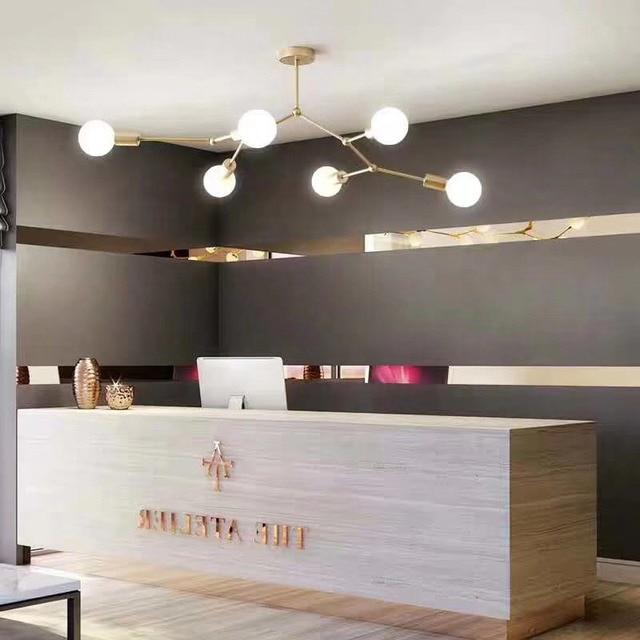 Luces de techo de múltiples cabezas industriales Retro Led Blanco/Negro lámpara de techo Luminaria lámparas de personalidad para salón lámparas de habitación