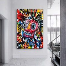 Graffiti colorful canvas painting Crazy love Wall Art Canvas Paintings Art Canvas Posters Prints Modern Decorative Wall Pictures