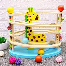 Baby Toy Wooden block ball track Chopping Block Table Game baby Educational Animal Model park toy for Children