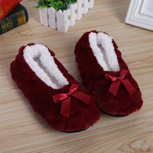 Home Warm Soft Plush Non-slip Indoor Fur Slippers Solid Color Cute Women Shoes new mntrerm 2018 cute mouse animal prints home comfortable indoor home practical plush non slip fleeces warm slippers women