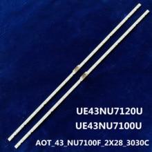"28 LED Strip Light Strip for Samsung 43 ""TV UE43NU7100U AOT_43_NU7100F_2X28_3030C BN44 00947A UE43NU7120U"